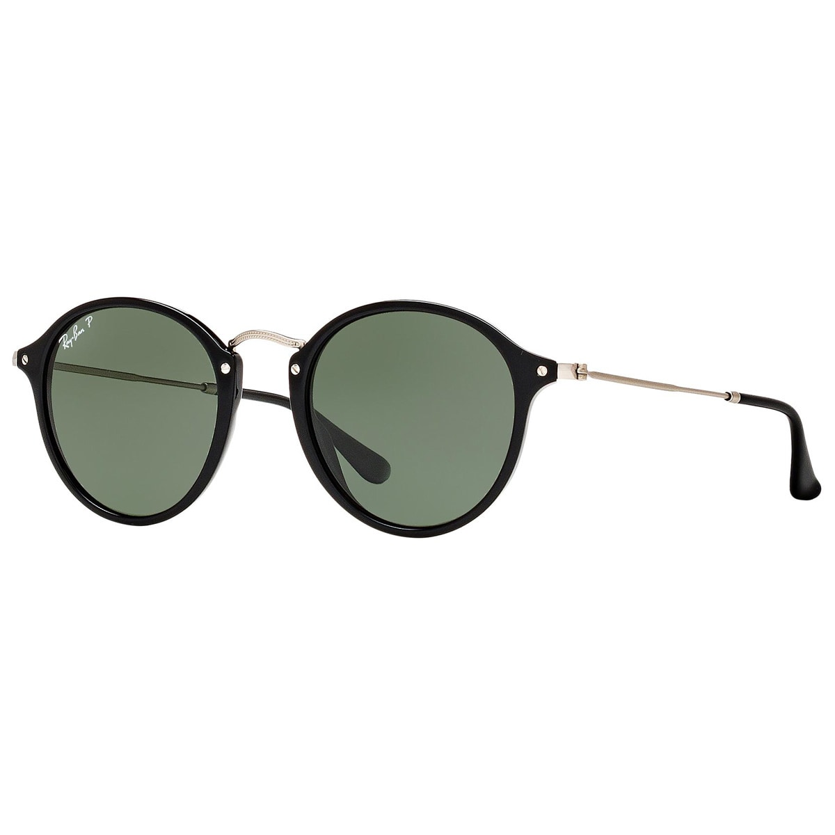 86e933fceed2 Shop Ray-Ban Round Fleck RB2447 901/58 Unisex Black/Silver Frame Polarized  Green Lens Sunglasses - Free Shipping Today - Overstock - 13467362