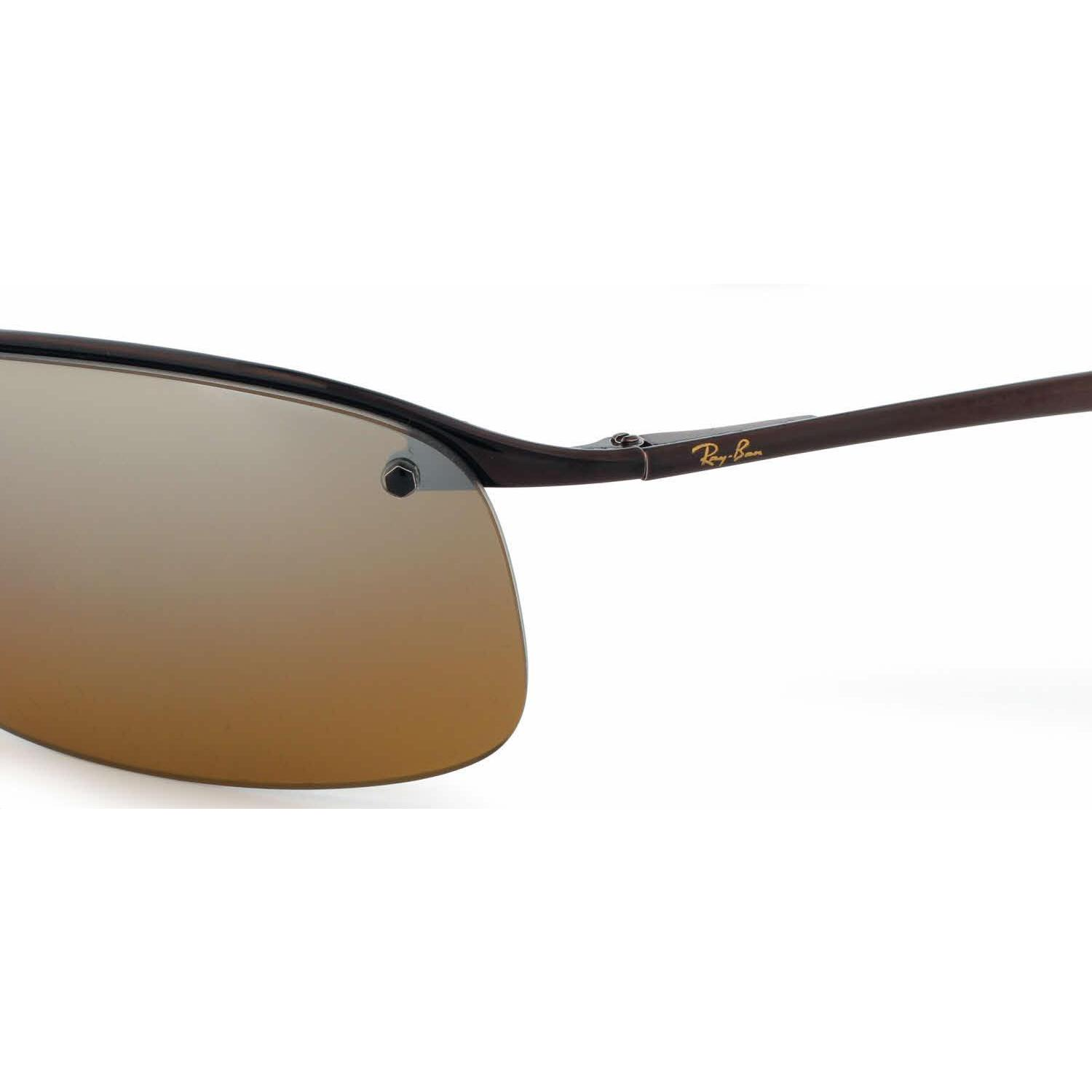 b5ef26a2b28f76 Shop Ray Ban Mens RB3183 014 84 Brown Metal Rectangle Sunglasses - Free  Shipping Today - Overstock.com - 13467448