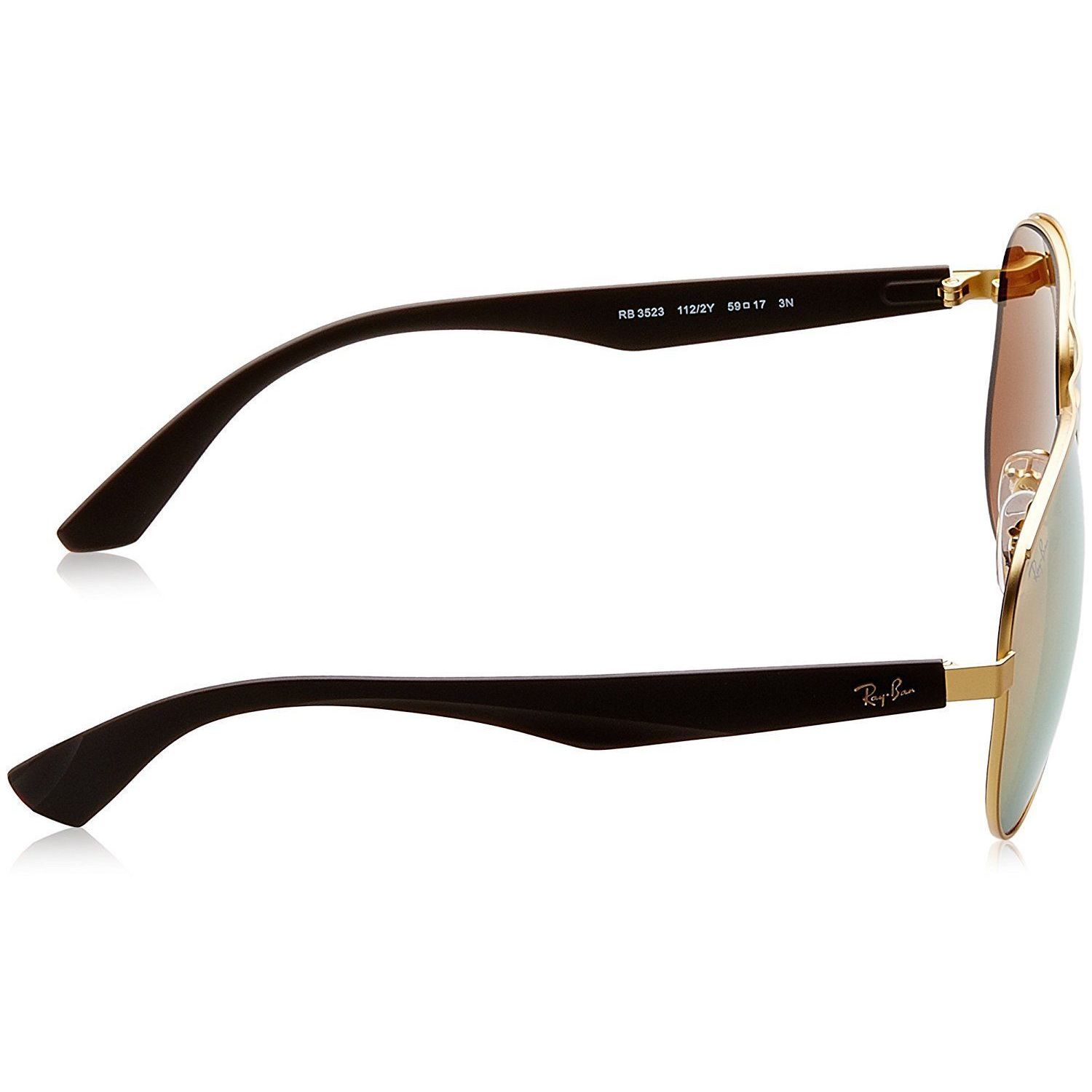 5905fa62d2 Shop Ray Ban Mens RB3523 112 2Y Gold Metal Cateye Sunglasses - Brown - Free  Shipping Today - Overstock - 13467513