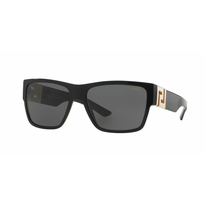 eda19990b3f Shop Versace Mens VE4296 GB1 81 Black Plastic Square Sunglasses - Grey -  Free Shipping Today - Overstock.com - 13467648