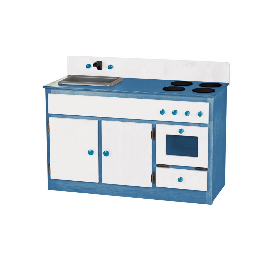 Shop Children\'s REAL WOOD Play Kitchen Sink/Stove Combo - Free ...