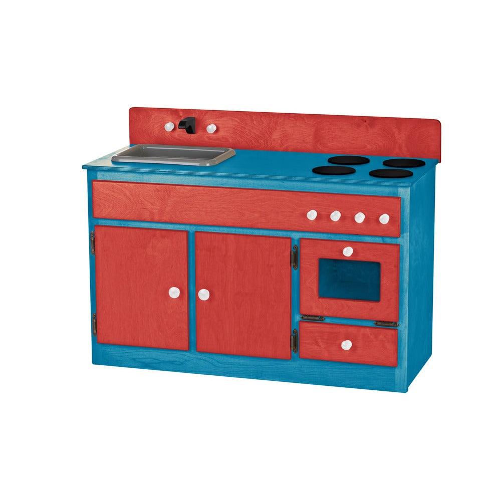 Childrenu0027s REAL WOOD Play Kitchen Sink/Stove Combo  sc 1 st  Overstock.com & Shop Childrenu0027s REAL WOOD Play Kitchen Sink/Stove Combo - Free ...