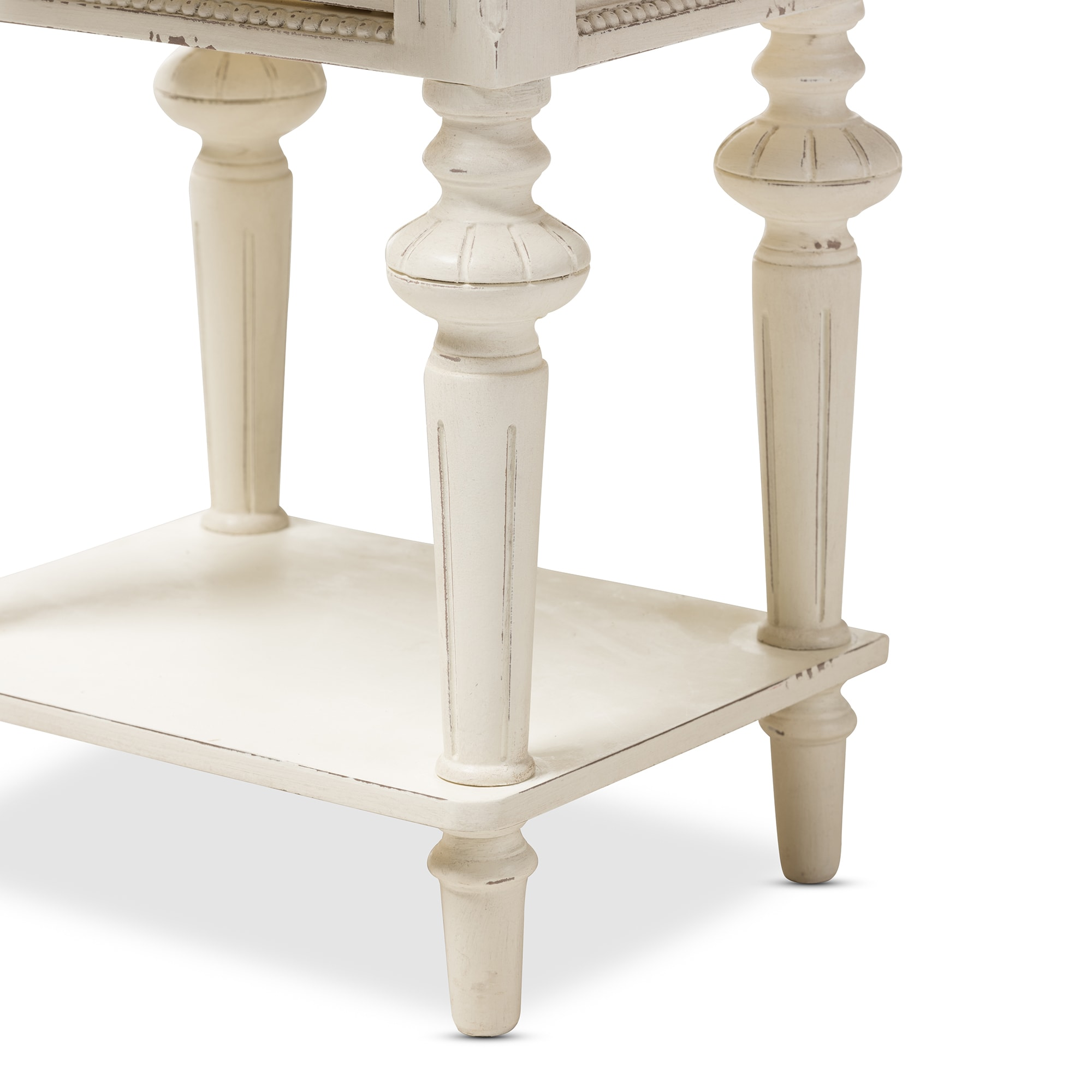 Baxton Studio Helios French Provincial Style Weathered Oak and