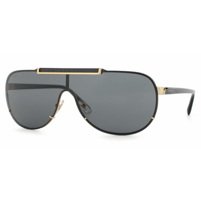 d1807ef3f1f Shop Versace Mens VE2140 100287 Gold Metal Cateye Sunglasses - Free ...