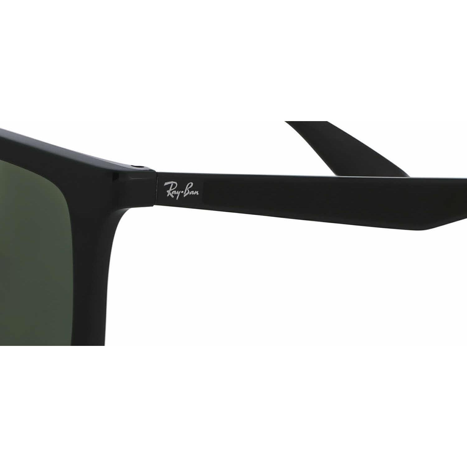 c53ea719cf Shop Ray Ban Mens RB4228 601 9A Black Plastic Rectangle Sunglasses - Green  - Free Shipping Today - Overstock.com - 13469058