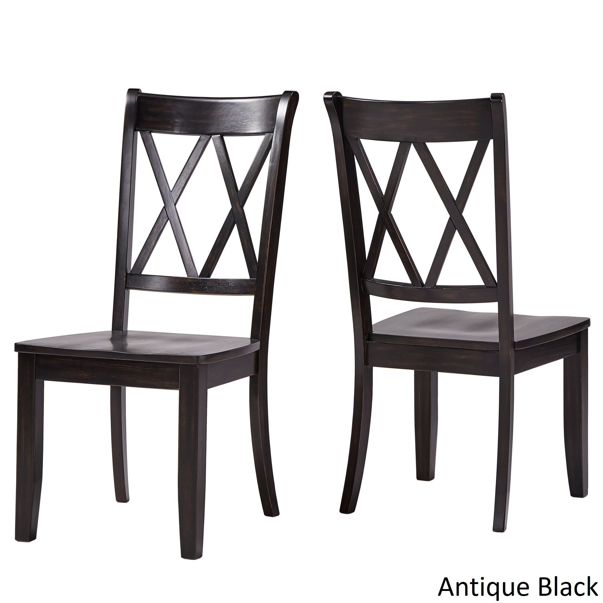 Shop Eleanor Double X Back Wood Dining Chair (Set Of 2) By INSPIRE Q  Classic   Free Shipping Today   Overstock.com   13469140