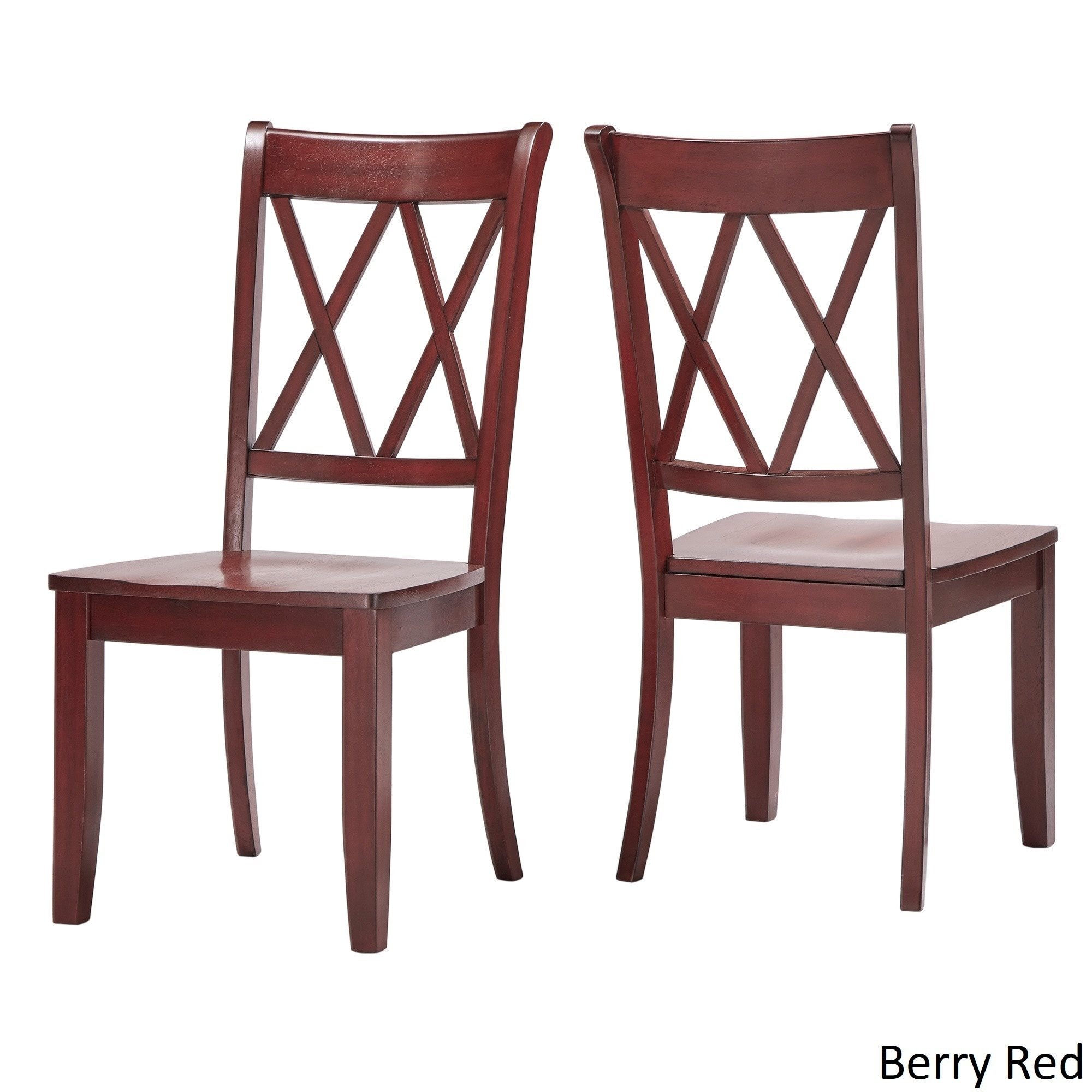 Eleanor Double X Back Wood Dining Chair Set Of 2 By Inspire Q Clic Free Shipping Today 13469140