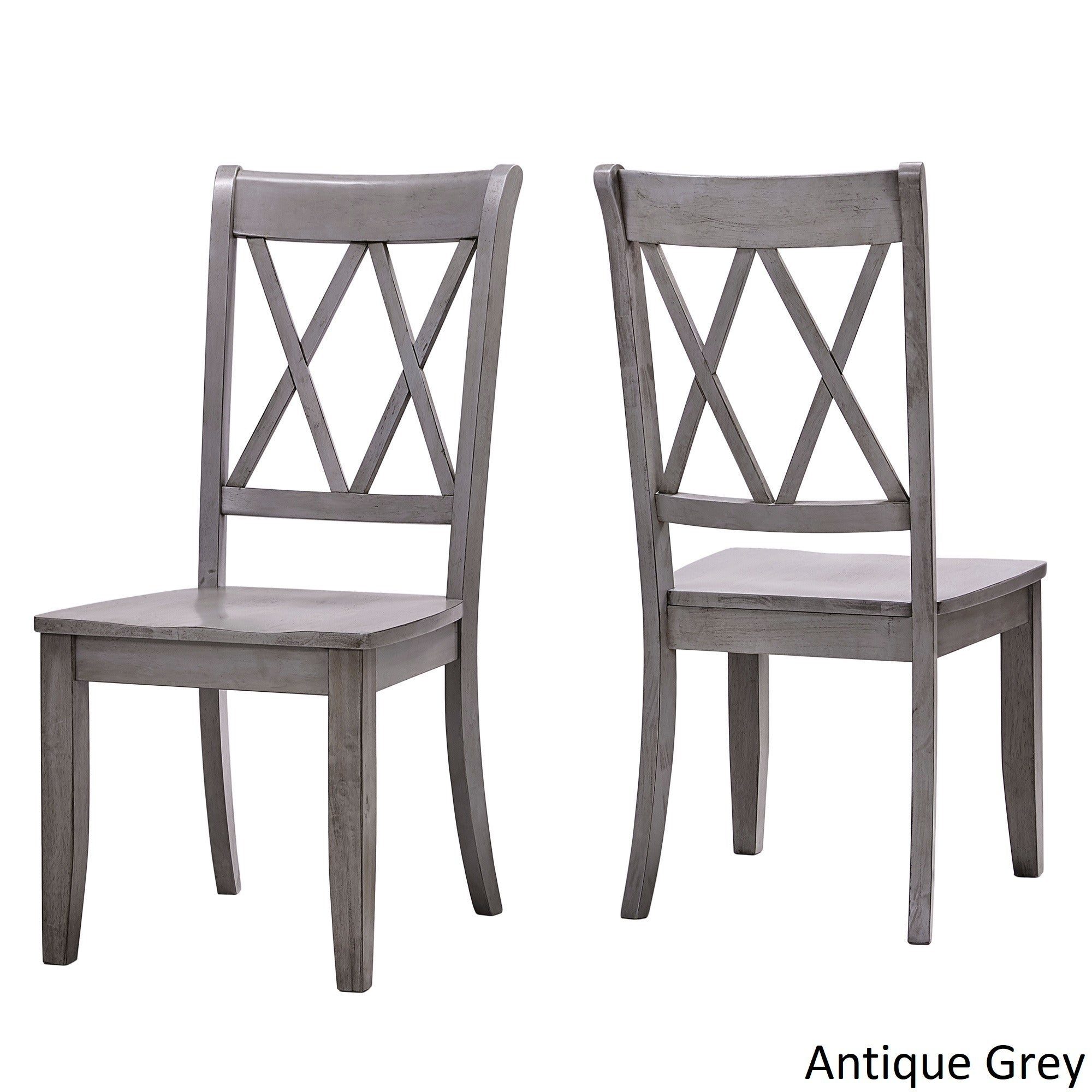 Shop Eleanor Double X Back Wood Dining Chair (Set of 2) by iNSPIRE Q Classic - Free Shipping Today - Overstock - 13469140  sc 1 st  Overstock.com & Shop Eleanor Double X Back Wood Dining Chair (Set of 2) by iNSPIRE Q ...