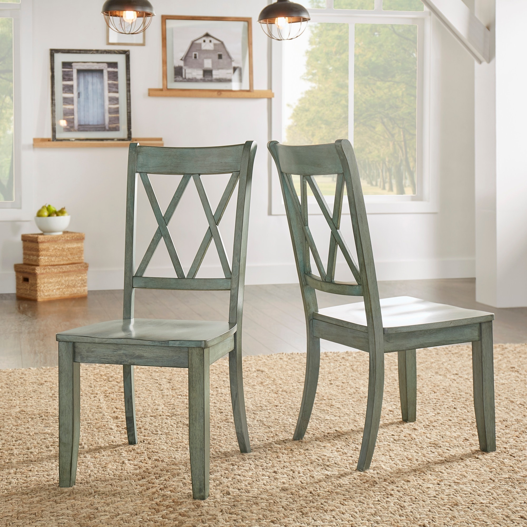 Eleanor Double X Back Wood Dining Chair (Set Of 2) By INSPIRE Q Classic    Free Shipping Today   Overstock   20156551