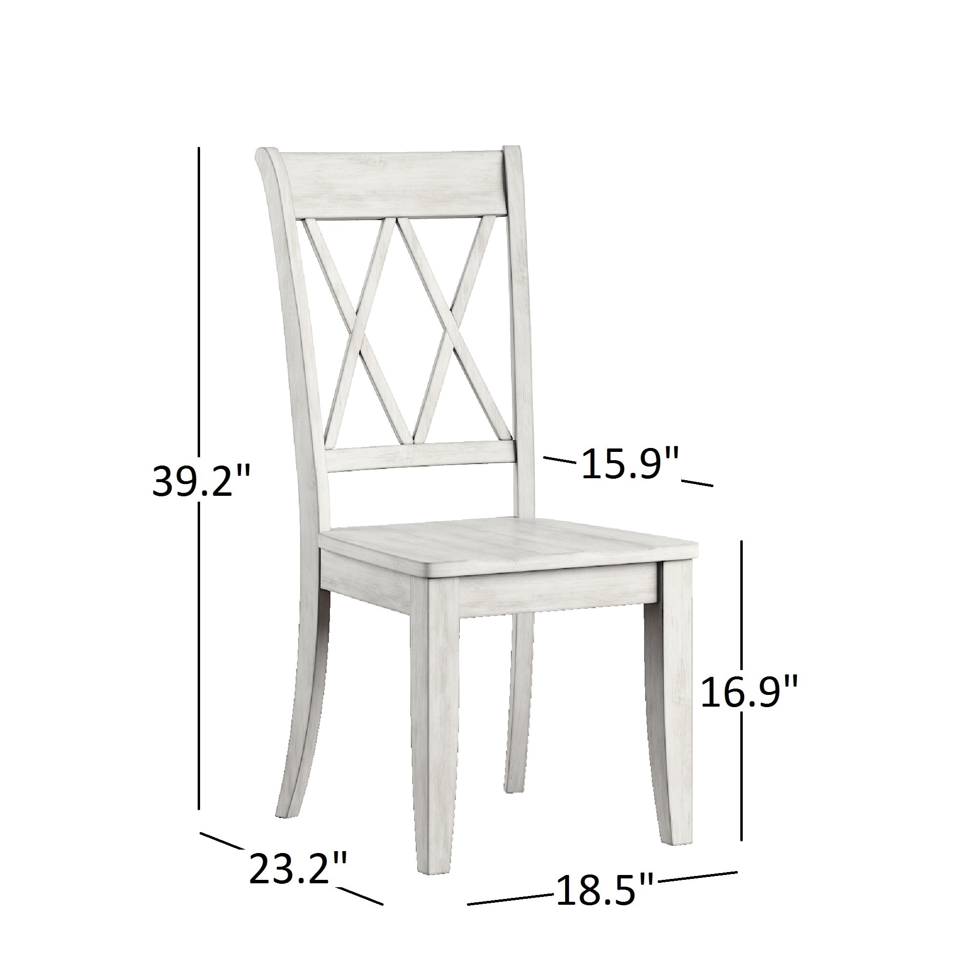 Eleanor Double X Back Wood Dining Chair (Set of 2) by iNSPIRE Q Classic -  Free Shipping Today - Overstock.com - 20156551