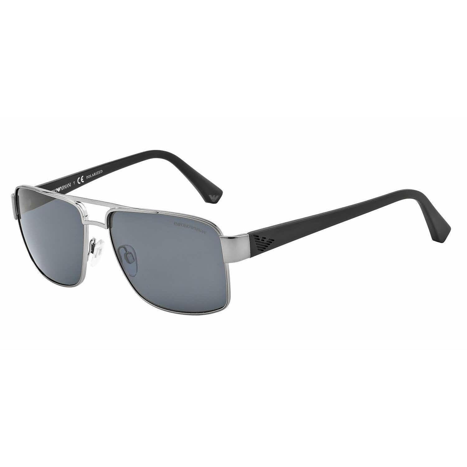 4410bf2af50 Shop Emporio Armani Mens EA2002 301081 Gunmetal Metal Rectangle Sunglasses  - Free Shipping Today - Overstock - 13469236
