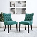 Regent Button Tufted Fabric Dining Chair (Single Chair)