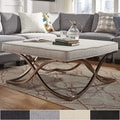 Solene X Base Square Ottoman Coffee Table - Champagne Gold by iNSPIRE Q Bold
