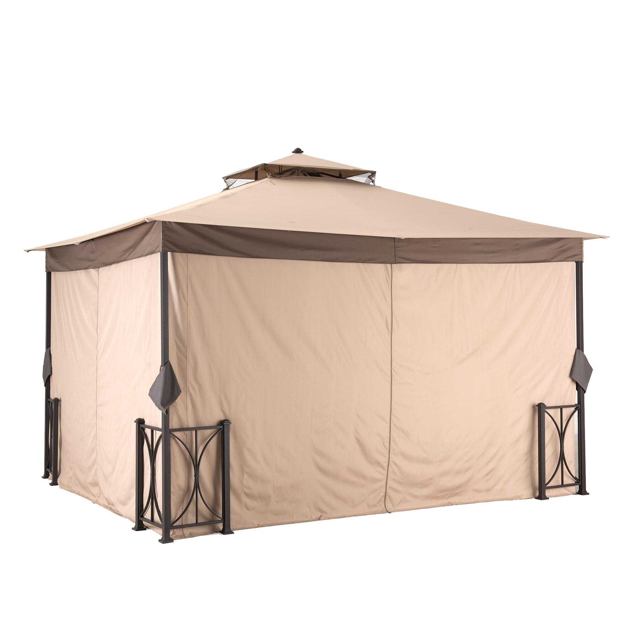 Sunjoy Belcourt Fabric Canopy Gazebo (10u0027 x 12u0027) - Free Shipping Today - Overstock.com - 20158292  sc 1 st  Overstock.com & Sunjoy Belcourt Fabric Canopy Gazebo (10u0027 x 12u0027) - Free Shipping ...