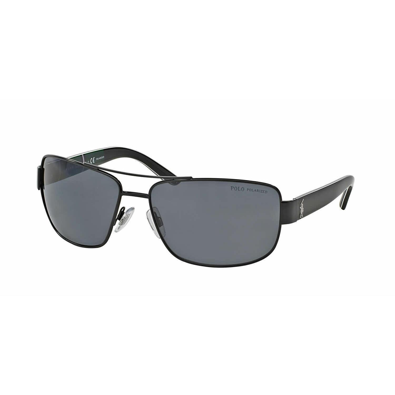 6539e2756f75 Shop Polo Mens PH3087 926781 Black Metal Rectangle Sunglasses - Grey - Free  Shipping Today - Overstock - 13471634