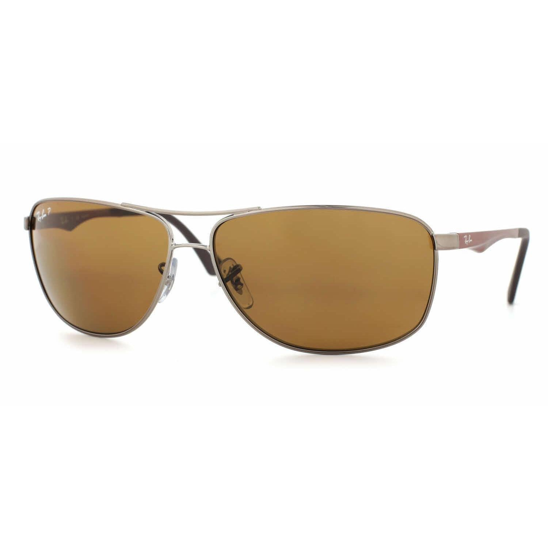 091cd4b881 Shop Ray Ban Mens RB3506 132 83 Gunmetal Metal Cateye Sunglasses - Brown -  Free Shipping Today - Overstock - 13471689