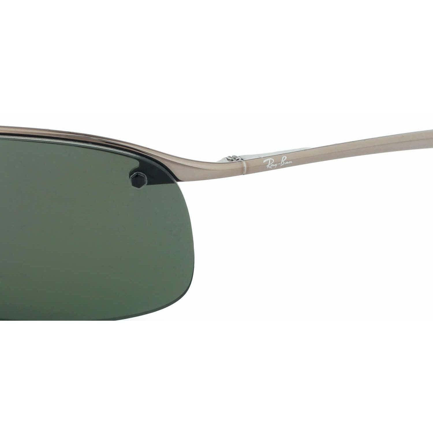 c46dbaa749af3 Shop Ray Ban Mens RB3183 004 9A Gunmetal Metal Rectangle Sunglasses - Green  - Free Shipping Today - Overstock.com - 13471708