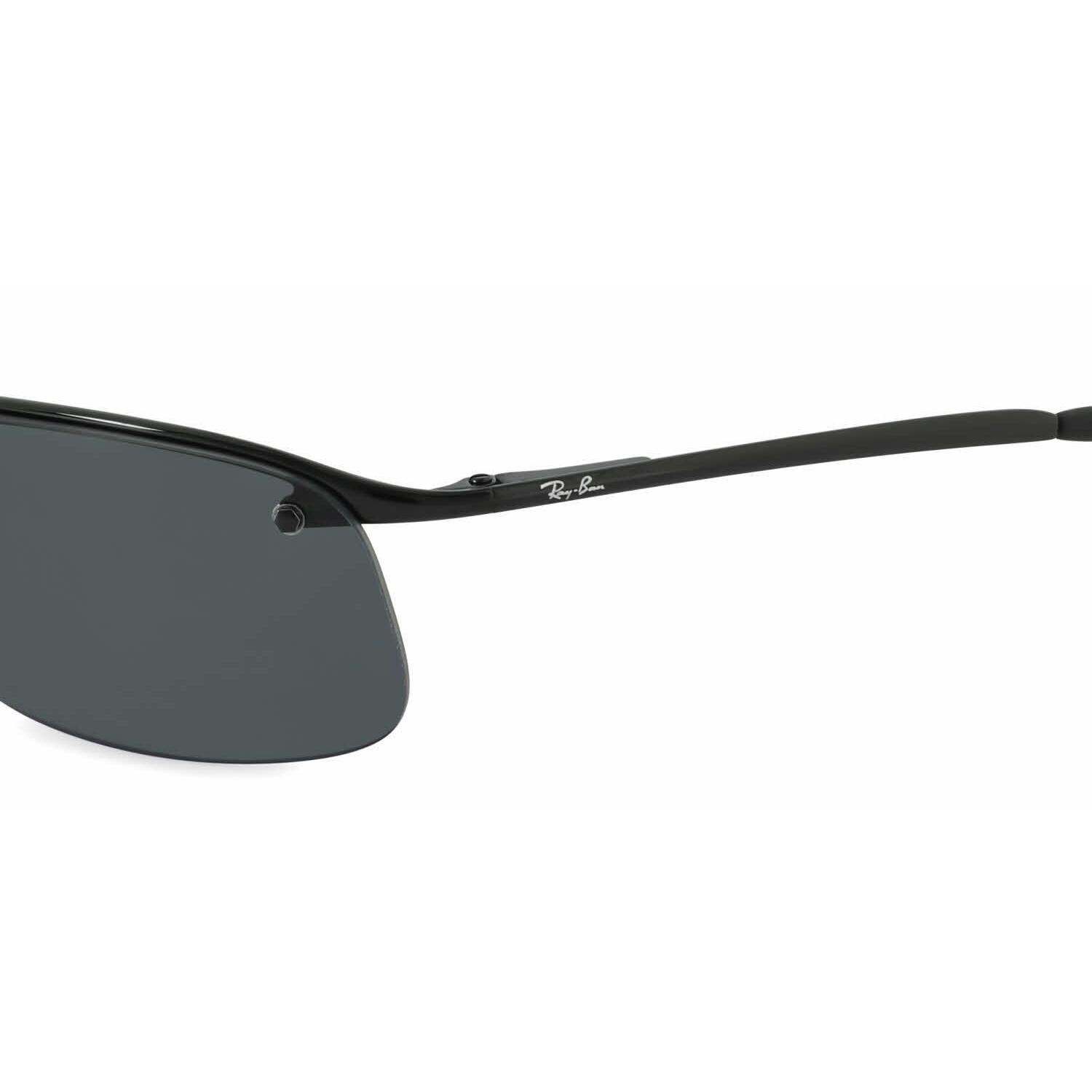 81c2d780cac00a Shop Ray Ban Mens RB3183 002 81 Black Metal Rectangle Sunglasses - Grey -  Free Shipping Today - Overstock - 13471710
