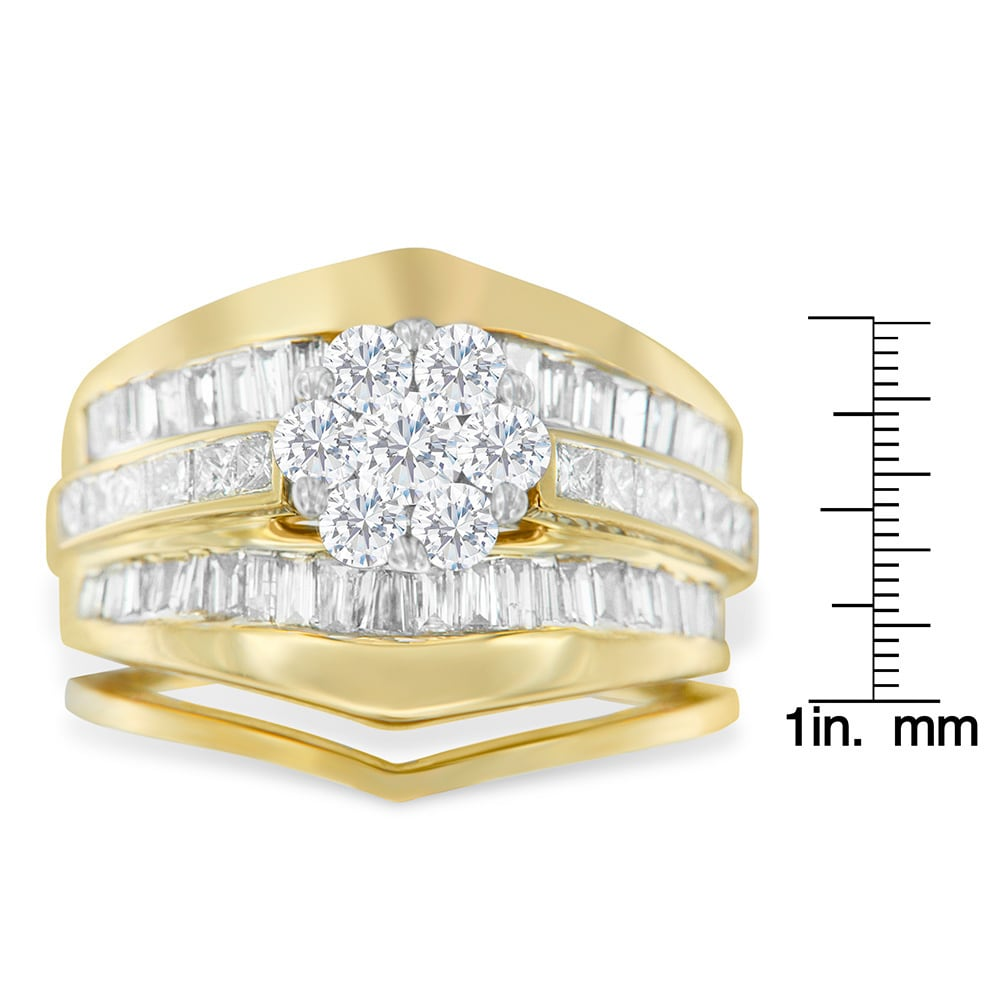 shoulders with engagement white ring vintage baguette diamond cut gold solitaire rings