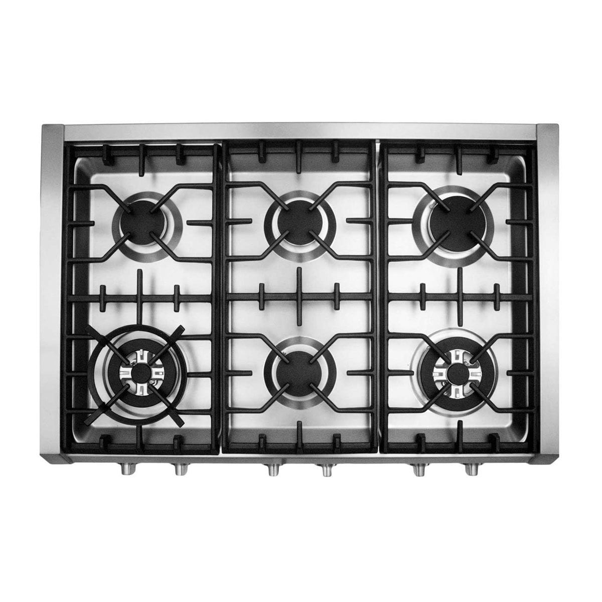Cosmo (S9-6) 36 in. Pro-Style Gas Rangetop with 6 Burners, with ...