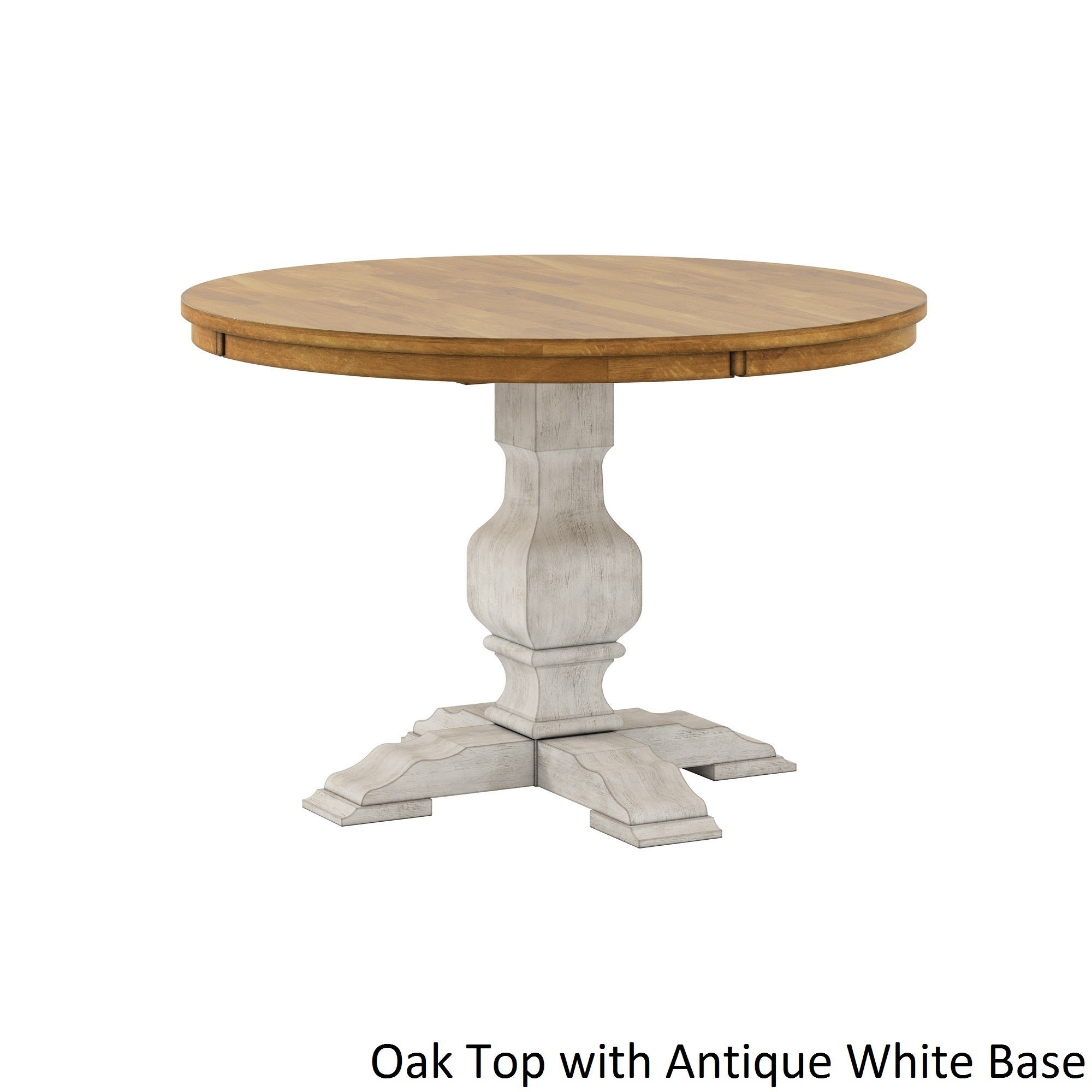 Shop Eleanor Two Tone Round Solid Wood Top Dining Table By INSPIRE Q  Classic   Free Shipping Today   Overstock.com   13476327
