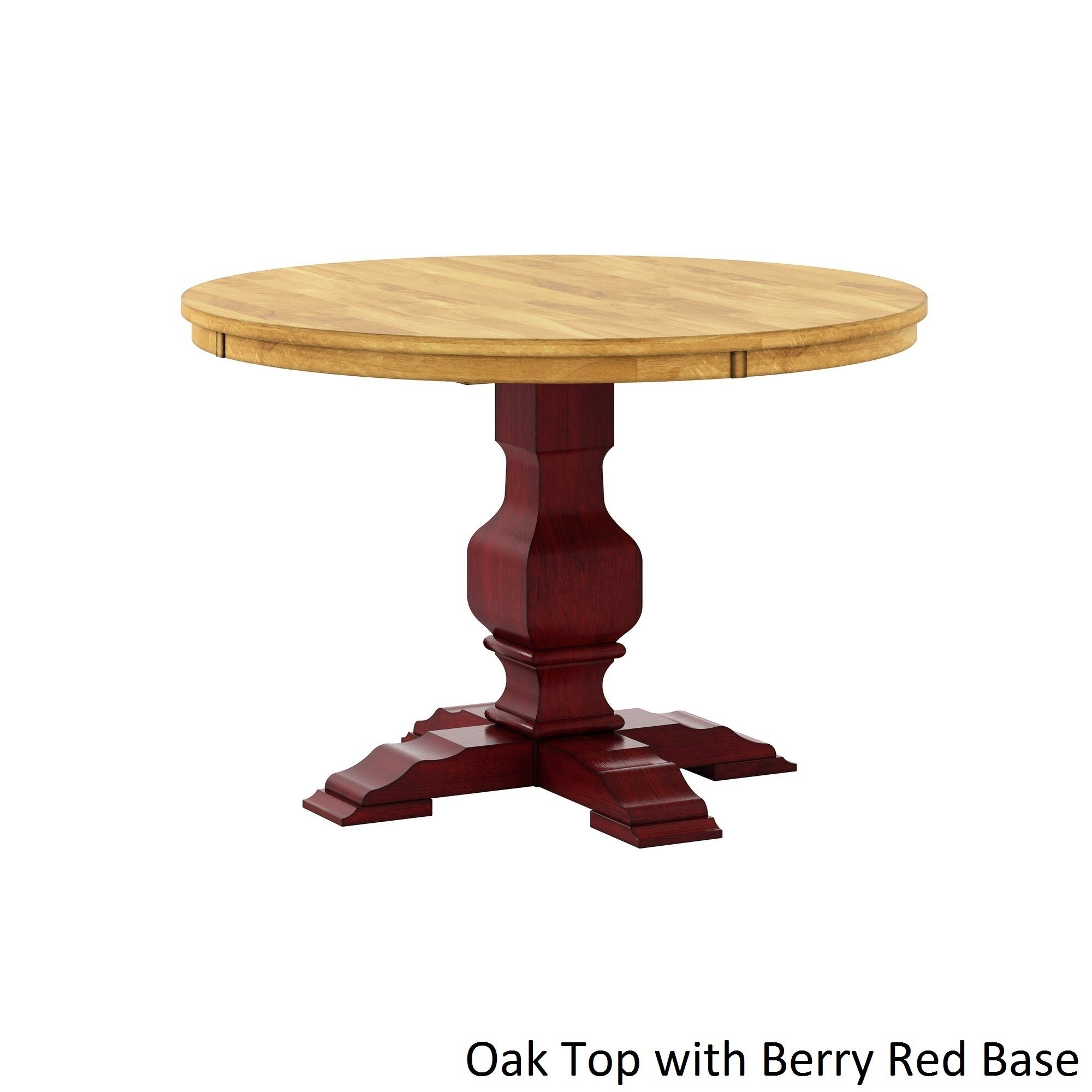 eleanor two tone round solid wood top dining table by inspire q classic free shipping today overstockcom 20162680 - Round Solid Wood Dining Table