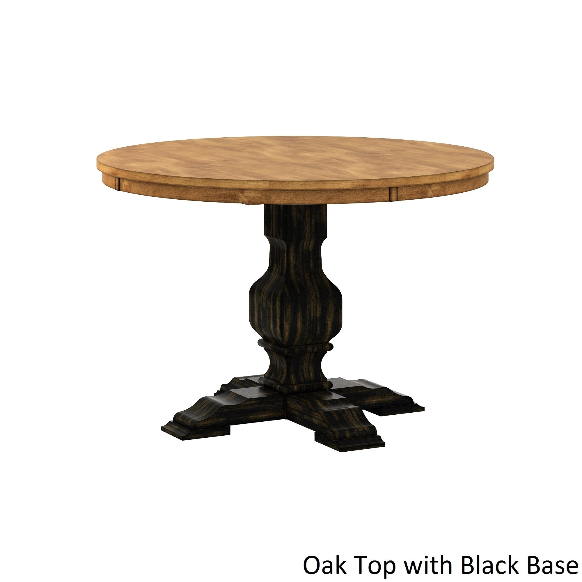 Eleanor Two Tone Round Solid Wood Top Dining Table By Inspire Q Clic Free Shipping Today 13476327