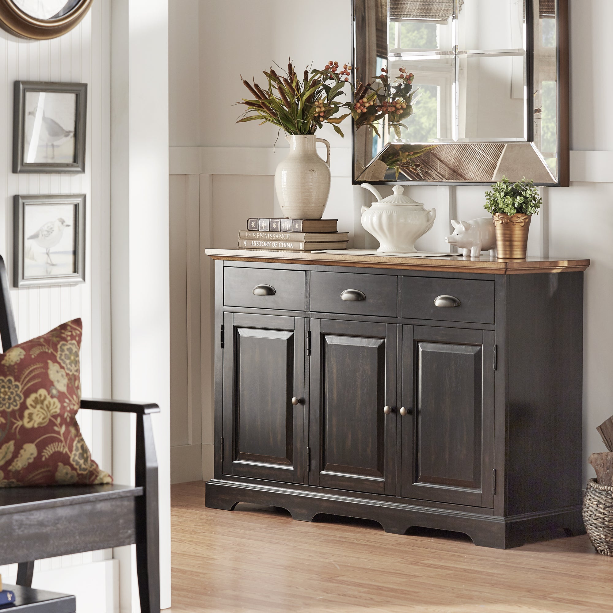 Eleanor Two-Tone Wood Cabinet Buffet Server by iNSPIRE Q Classic - Free  Shipping Today - Overstock.com - 20162833