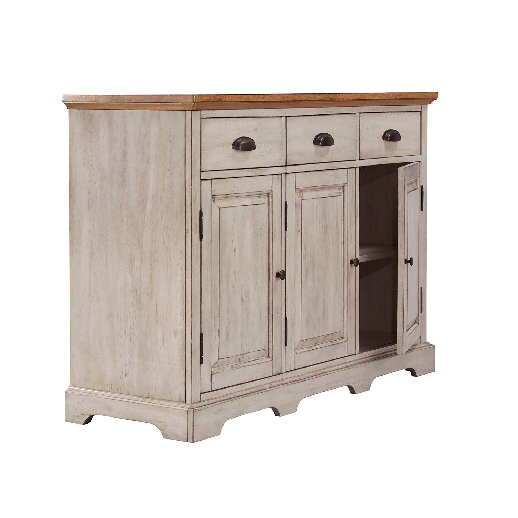 Shop Eleanor Two Tone Wood Cabinet Buffet Server By INSPIRE Q Classic   On  Sale   Free Shipping Today   Overstock.com   13476417