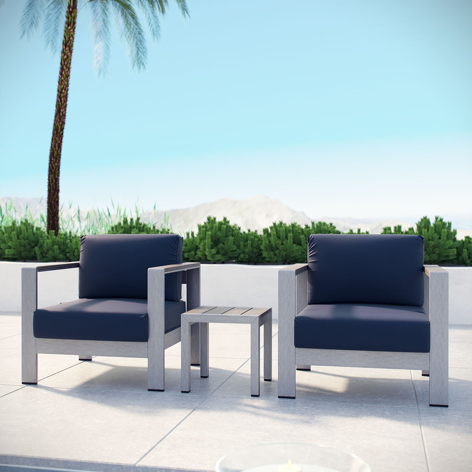 S Aluminum Outdoor Sectional Sofa Set Of 3 On Free Shipping Today 13476593