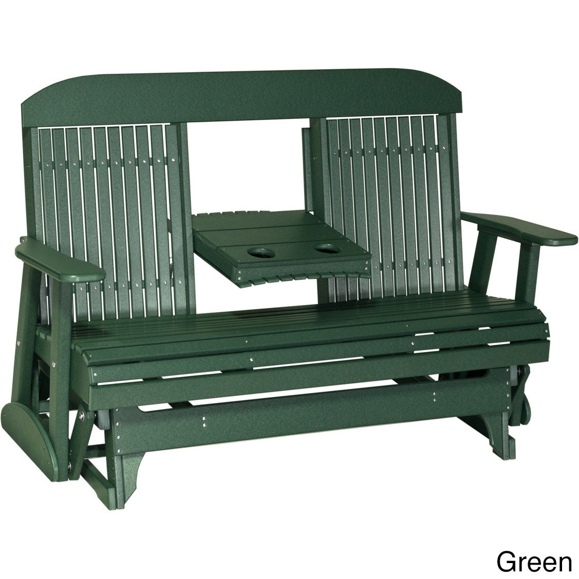 Picture of: Shop Black Friday Deals On Poly Outdoor 5 Foot Highback Porch Glider Bench Overstock 13476707