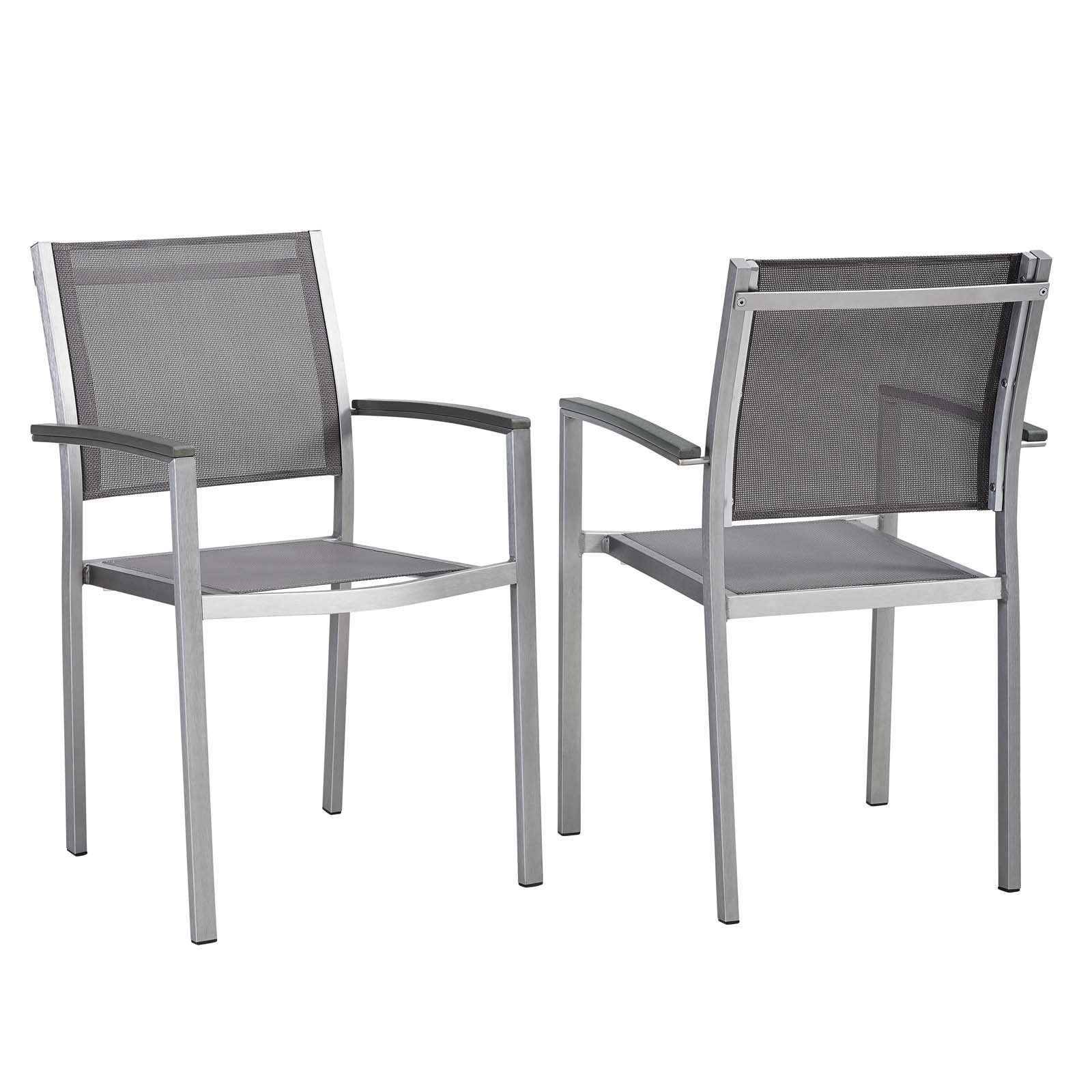 Shop shore aluminum outdoor dining chair set of 2 on sale free shipping today overstock 13476786