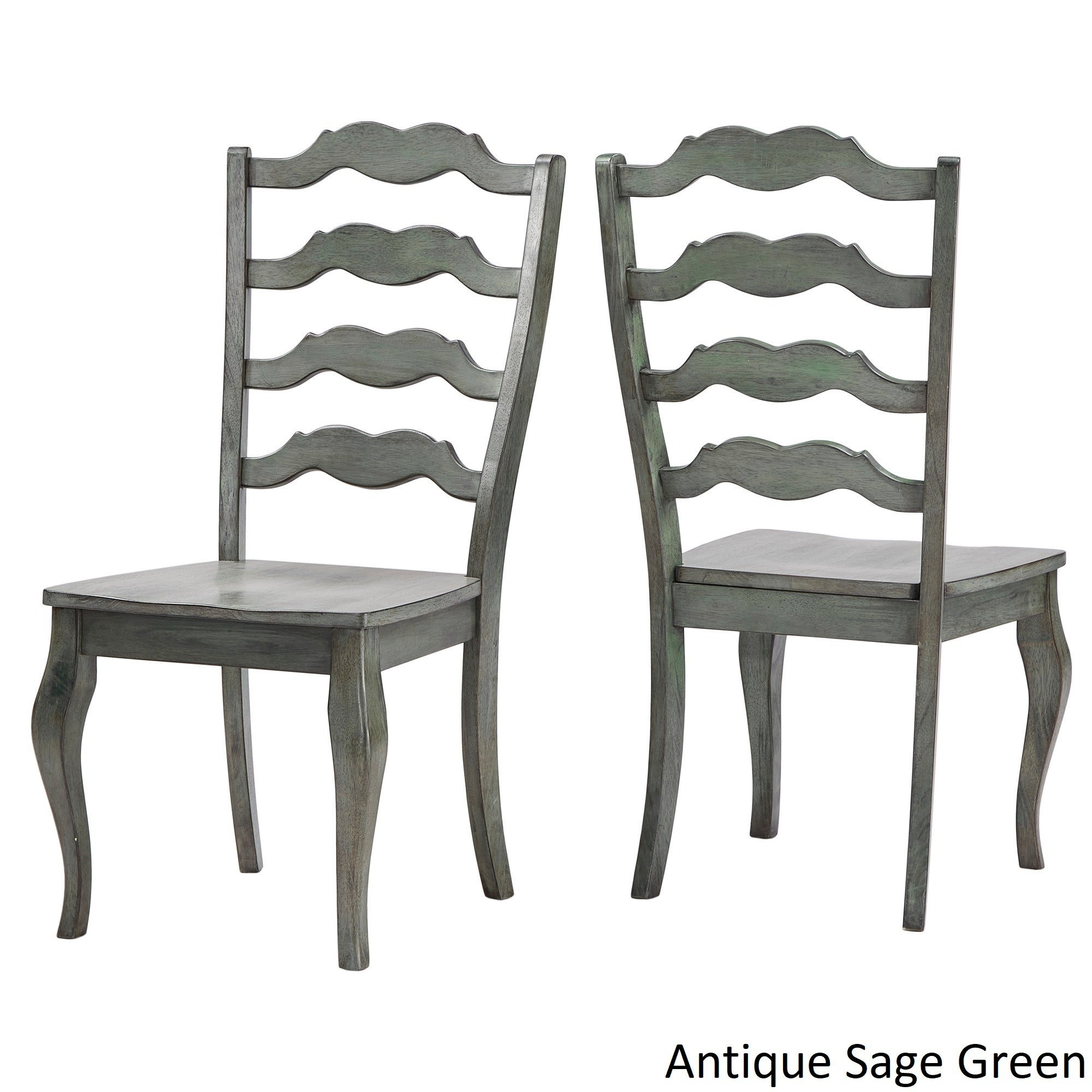 Shop Eleanor French Ladder Back Wood Dining Chair Set Of 2 By