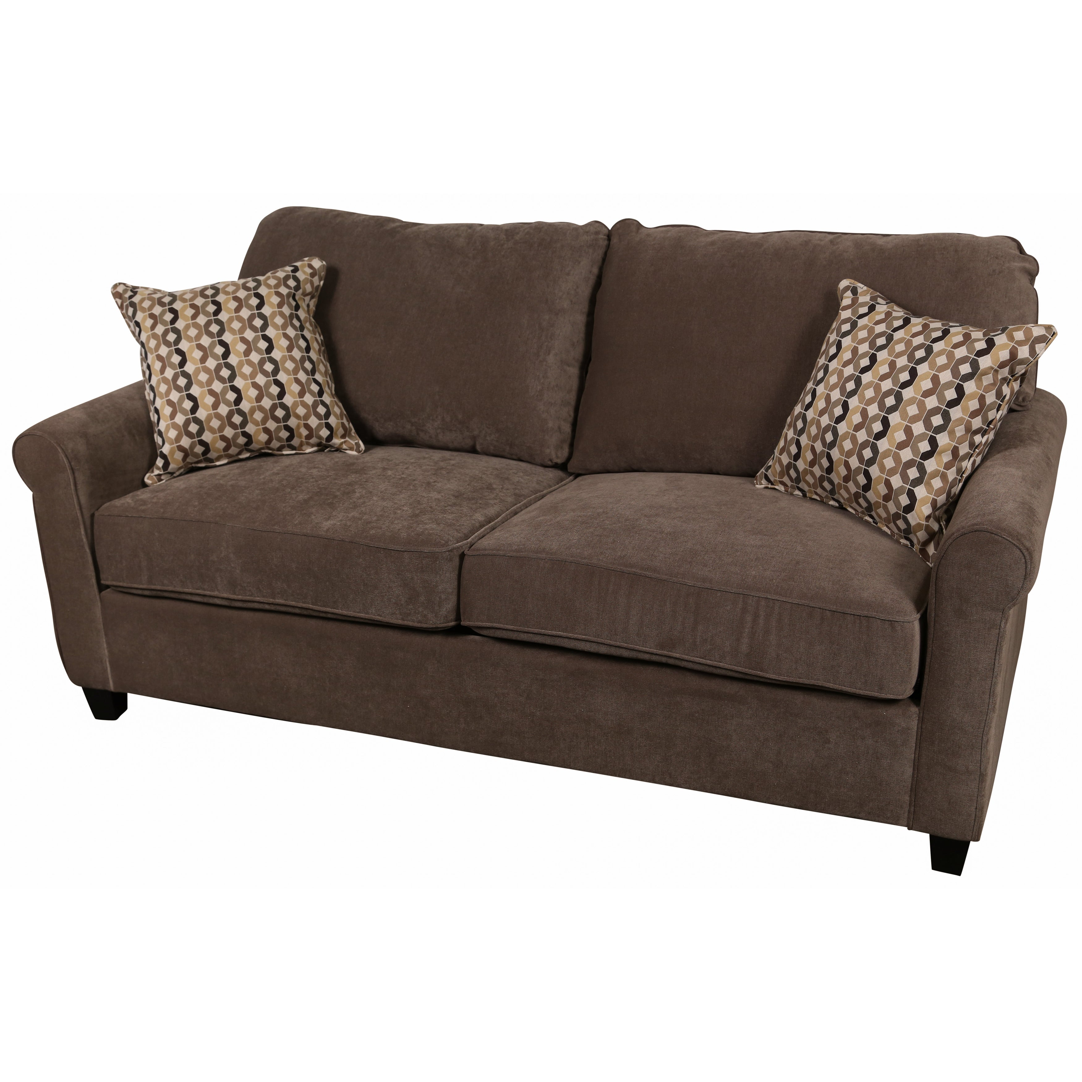 Porter Serena Warm Grey Microfiber Queen Sleeper Sofa With Two Woven Accent Pillows Free Shipping Today 13477178