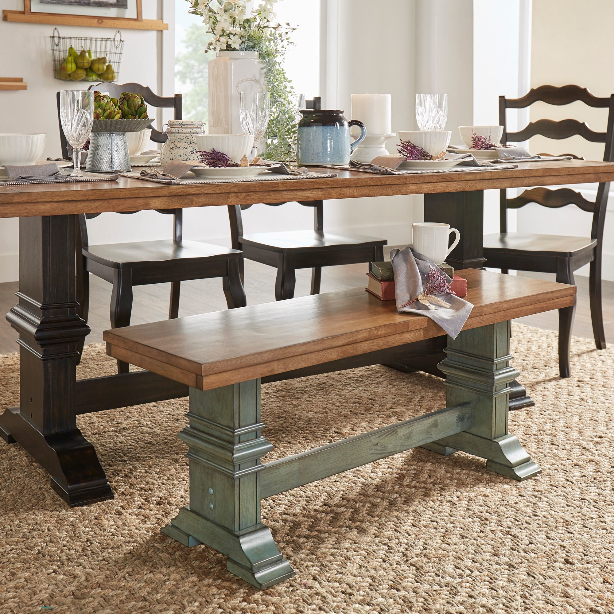 Swindon Rustic Oak Turnbuckle Dining Bench by iNSPIRE Q Classic - Free  Shipping Today - Overstock.com - 14319134