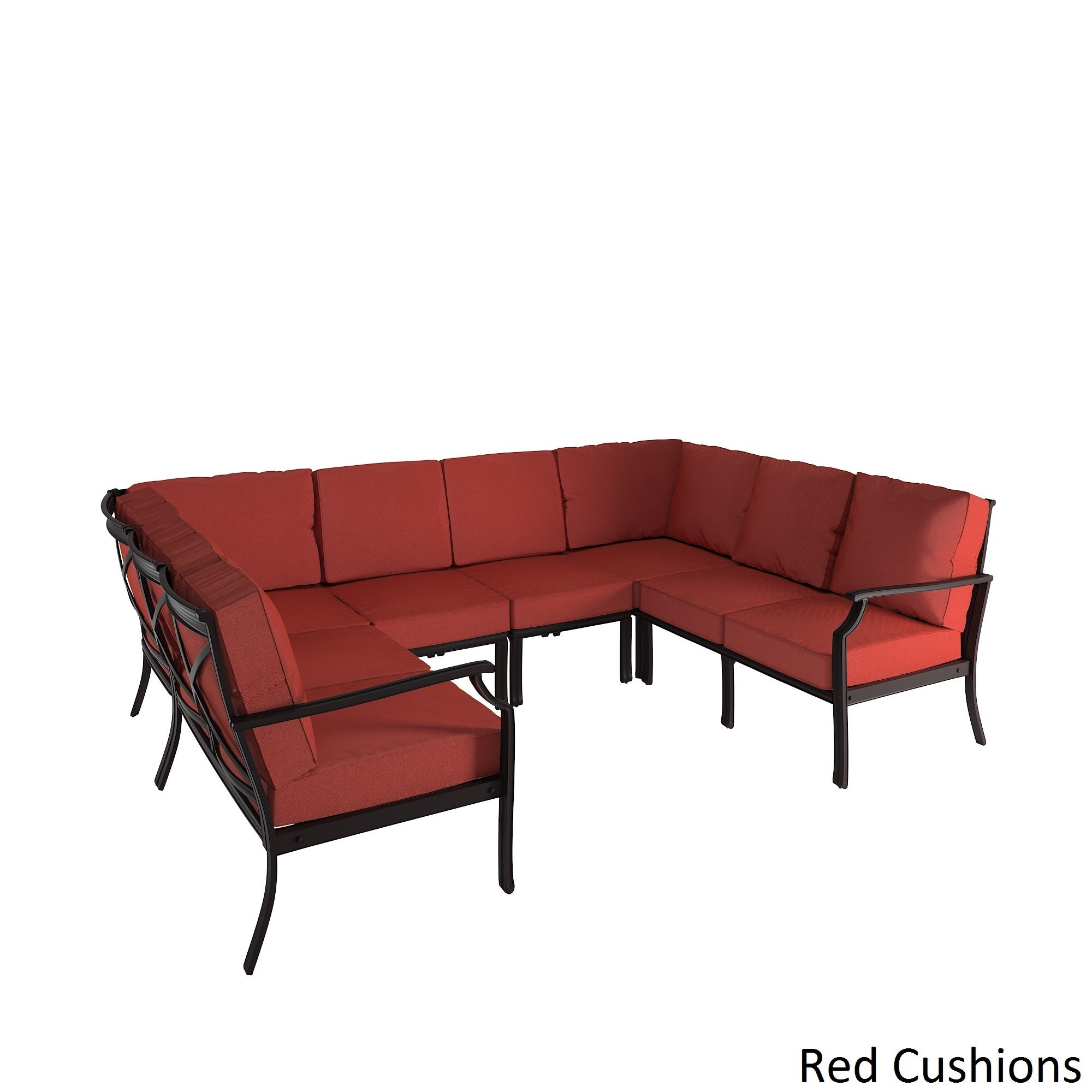 outdoor sectional metal. Matira Metal Modern 6 Piece 8 Seater U Shaped Outdoor Sectional By INSPIRE Q Oasis - Free Shipping Today Overstock.com 20163795 S
