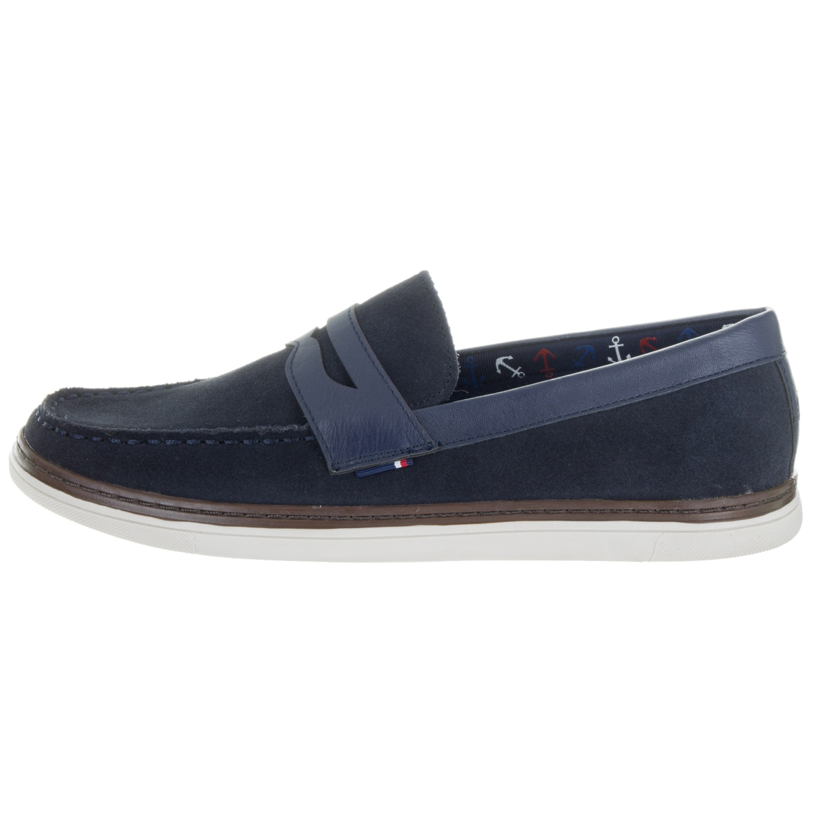 297f2c013470 Shop Tommy Hilfiger Men s Lyons 2 Blue Leather Loafers - Free Shipping  Today - Overstock - 13478045