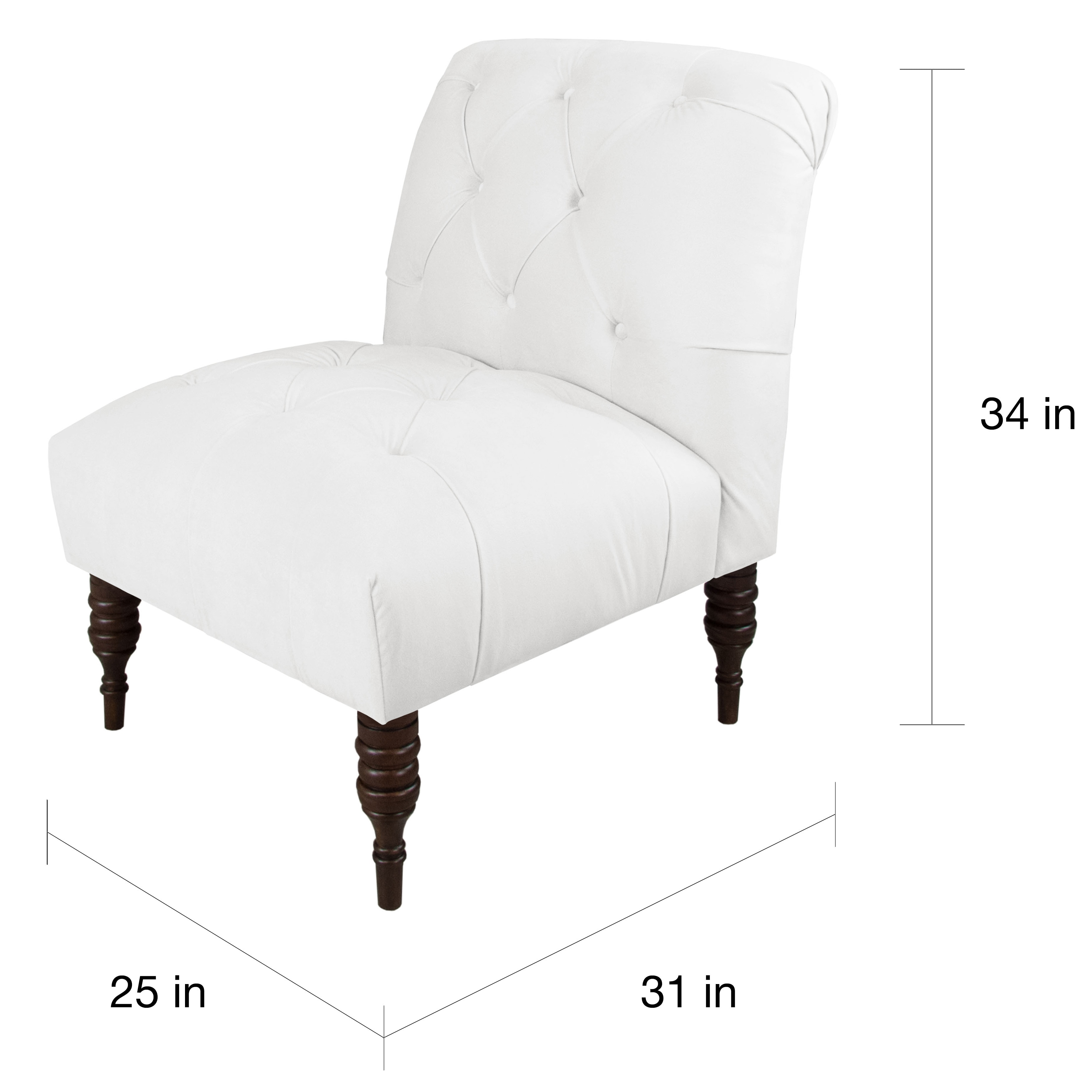 Shop Skyline Furniture Velvet Fabric Modern Tufted Chair   On Sale   Free  Shipping Today   Overstock.com   13489164
