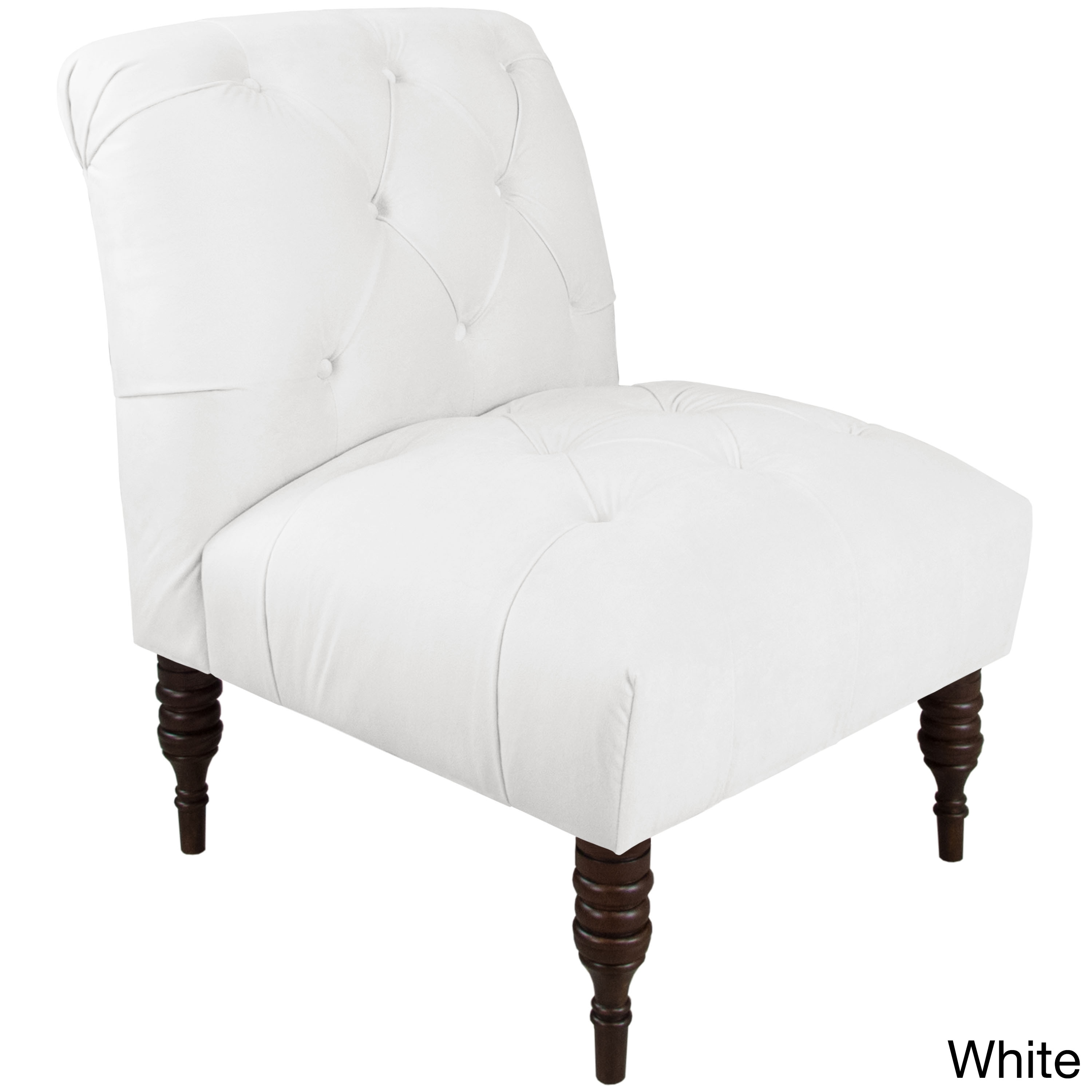 Skyline Furniture Velvet Fabric Modern Tufted Chair On Free Shipping Today 13489164