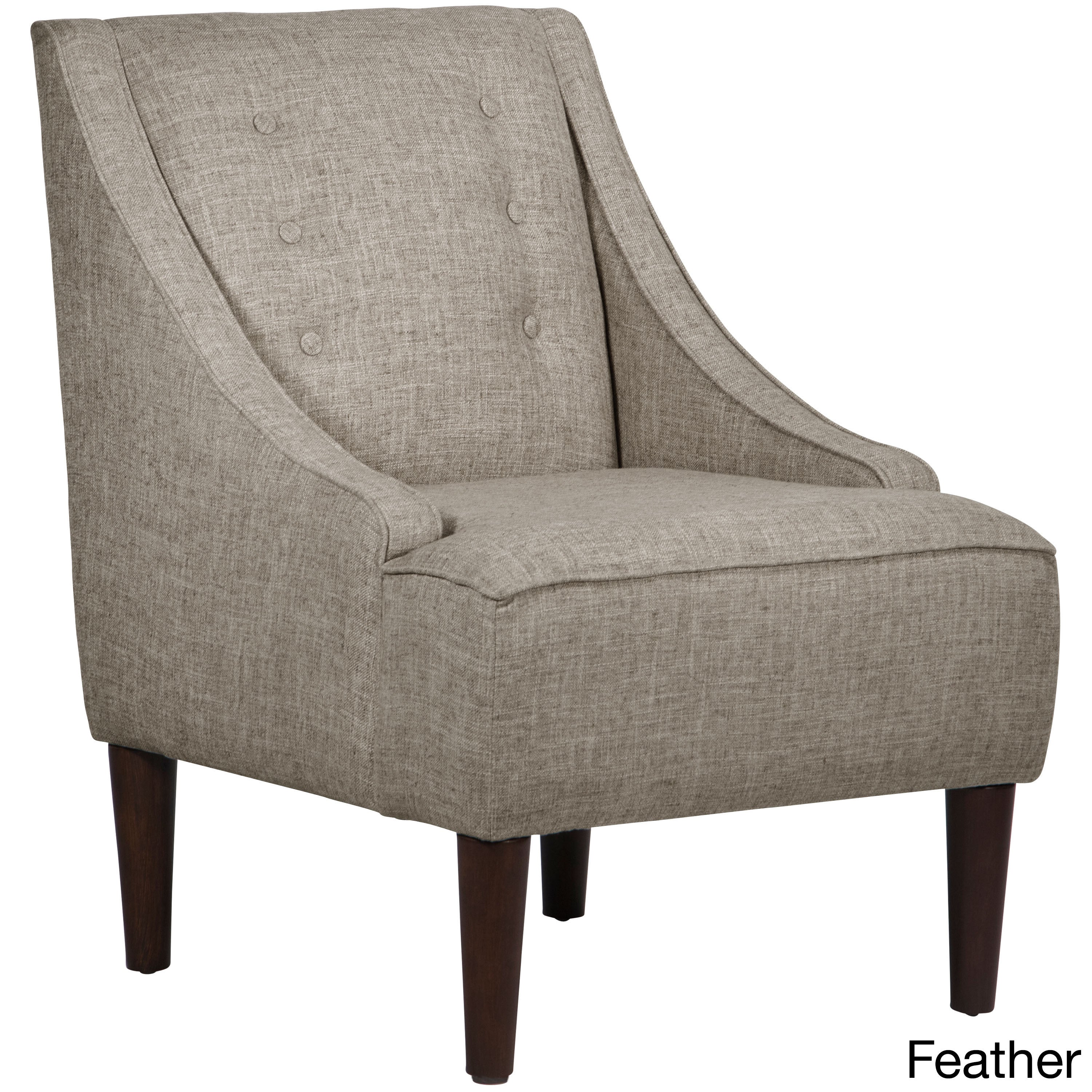Shop Skyline Furniture Zuma Linen Fabric Midcentury Modern Chair   Free  Shipping Today   Overstock.com   13489165