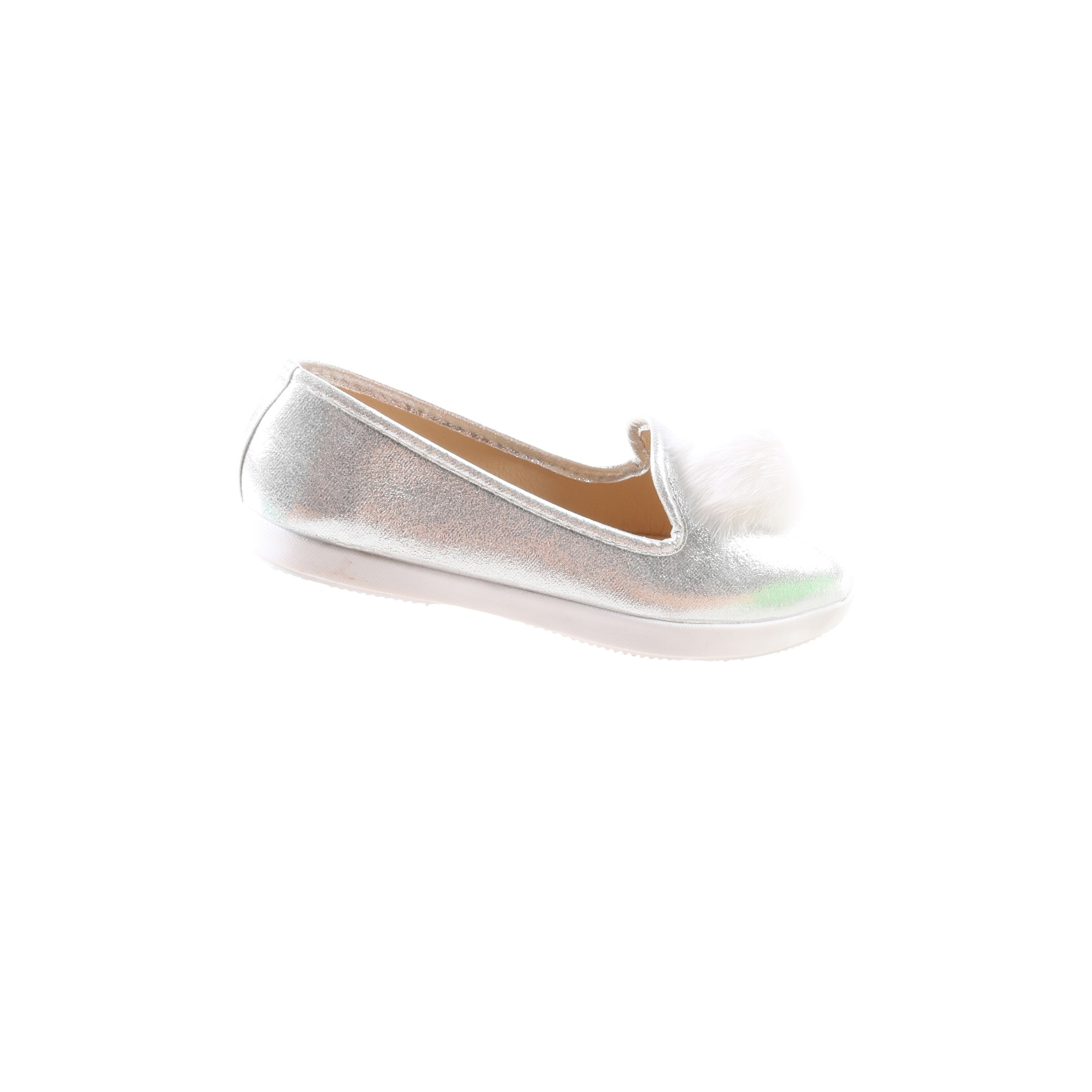 fe1bdc0f7 Shop Hadari Women's Casual Fashion Slip On Silver Pom Pom Flat Shoes - Free  Shipping On Orders Over $45 - Overstock - 13490764