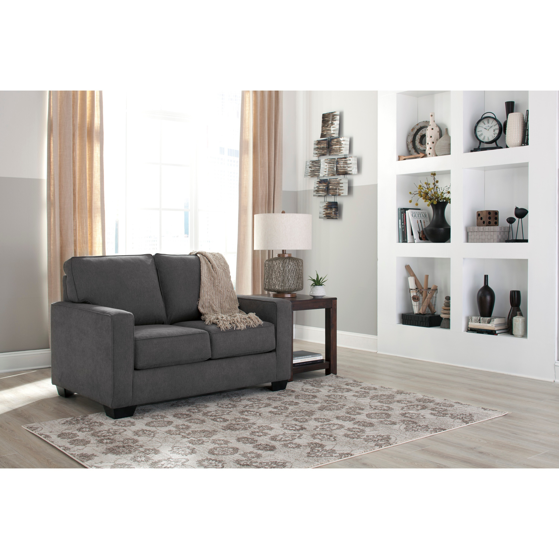 Shop Signature Design by Ashley Zeb Charcoal Full Sofa Sleeper ...