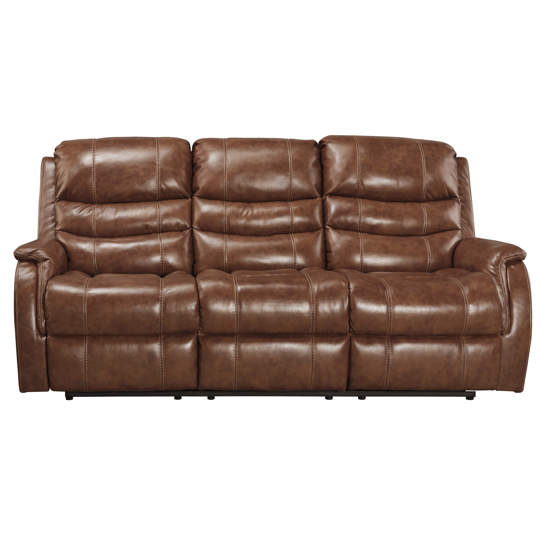 Signature Design by Ashley Metcalf Nutmeg Power Reclining Sofa