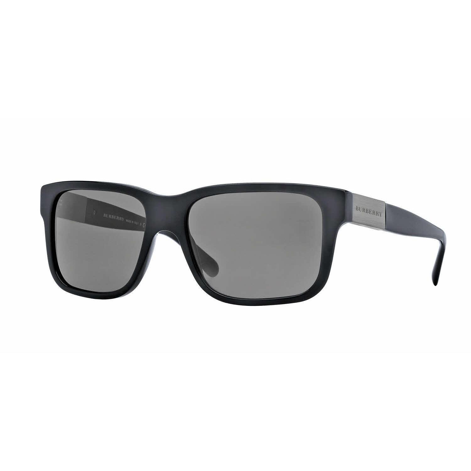 b2535e3dde6c Shop Burberry Mens BE4170 300187 Black Plastic Square Sunglasses - Free  Shipping Today - Overstock - 13517174