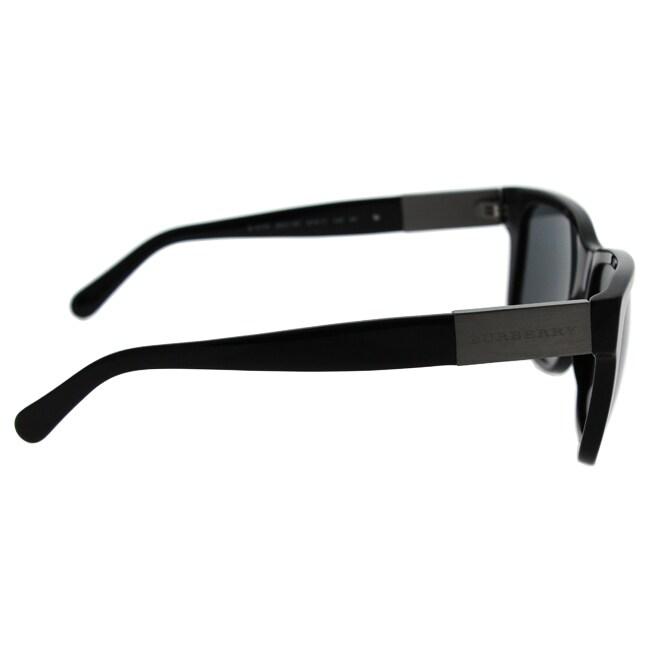 b2535e3dde6c Shop Burberry Mens BE4170 300187 Black Plastic Square Sunglasses - Free  Shipping Today - Overstock - 13517174