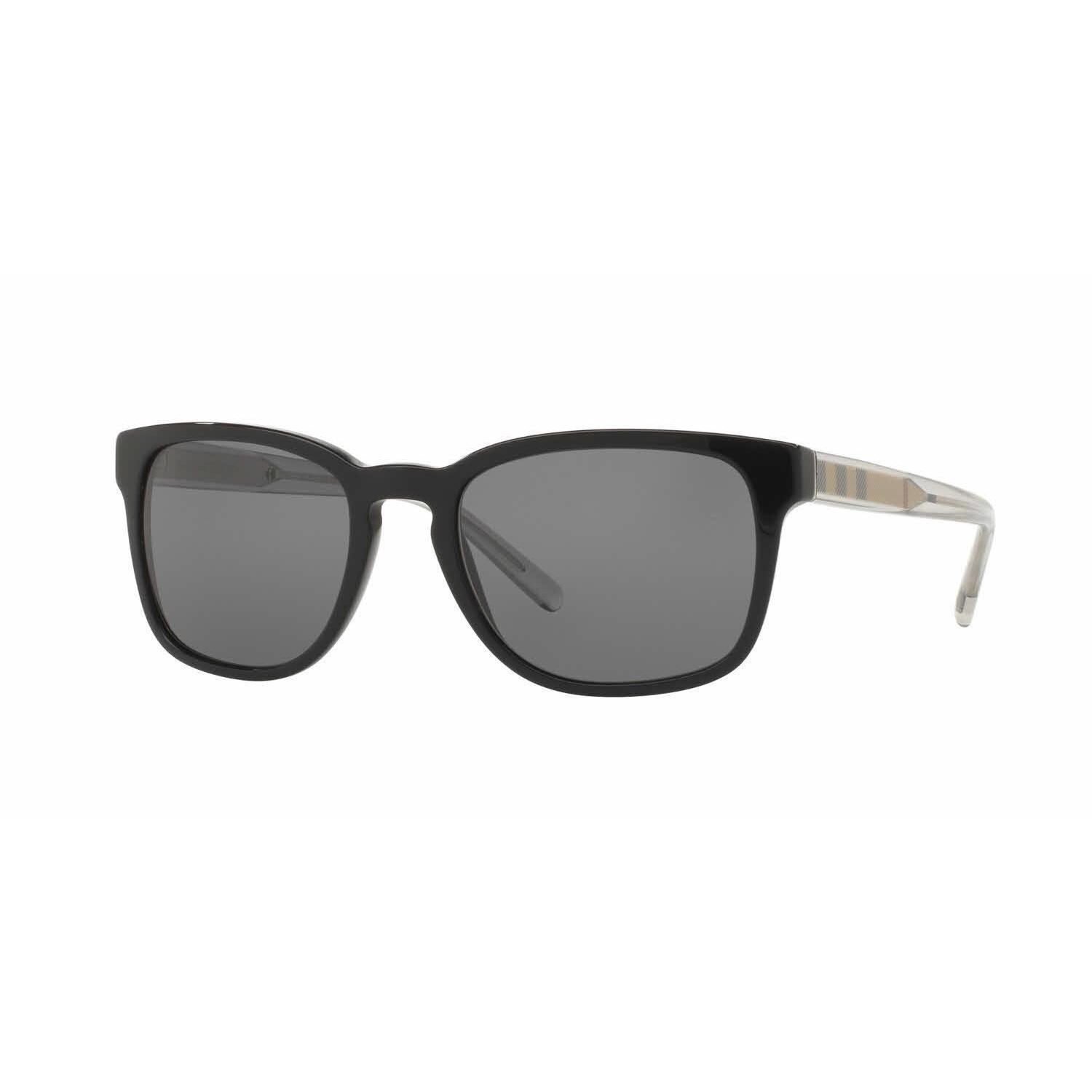 311a22d8a176f Shop Burberry Mens BE4222 300181 Black Plastic Square Sunglasses - Grey -  Free Shipping Today - Overstock.com - 13517186