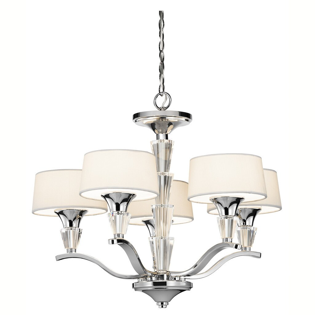Kichler lighting crystal persuasion collection 5 light chrome mini kichler lighting crystal persuasion collection 5 light chrome mini chandelier free shipping today overstock 20200710 arubaitofo Image collections