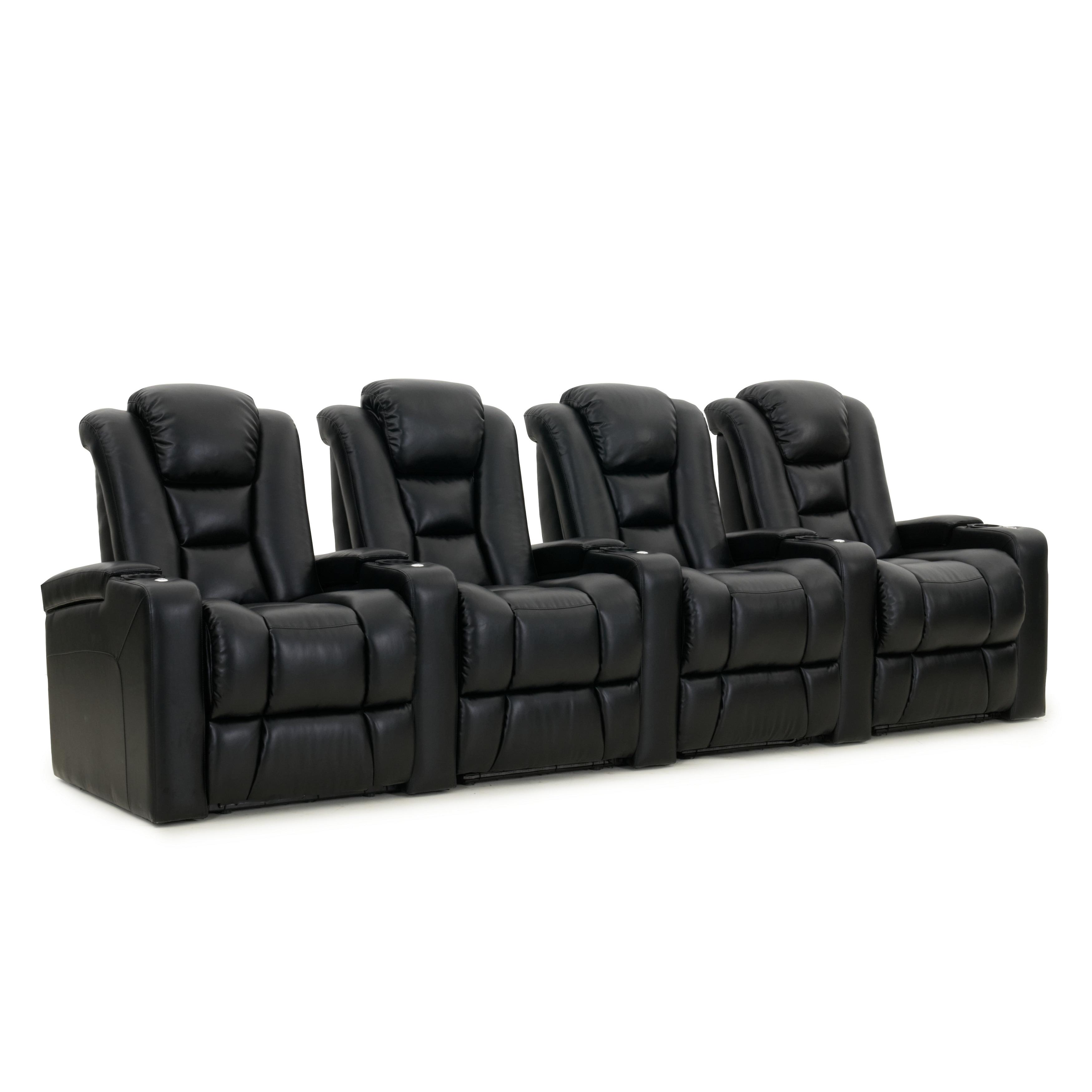 Octane Mega XL950 Motor Headrest Leather Home Theater Seats (Row of 4)
