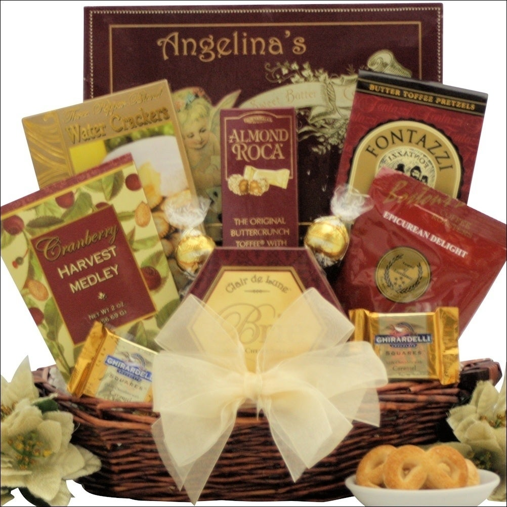 Shop Holiday Traditions Gourmet Holiday Christmas Gift Basket - Free ...