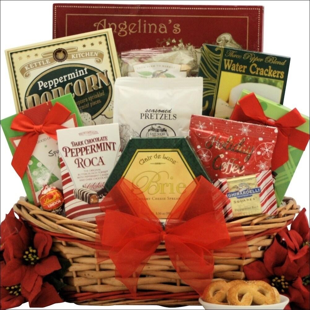 Shop Tidings of Joy: Medium Gourmet Holiday Christmas Gift Basket ...